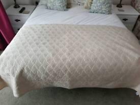 Champagne coloured bedspread