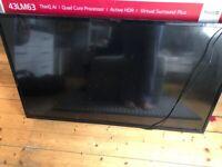 """49"""" TV for sale. Needing screen repair"""