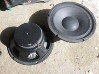 2 x speakers 11.5 inch 16ohm