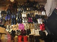 Wholesale joblot mixed shoes women's men's kids 85 pairs v.good condition £100