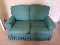 2 green sofas for sale