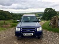 Ford Ranger TDCI 2.5 Double cab. 4x4. Nearly new MT Tyres. 56 Reg. 131000