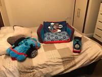 Thomas inflatable sofa bed, glow pal and pillow pet
