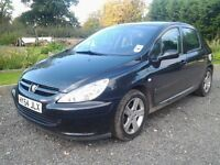 Peugeot 307 1.6 hdi S 5 door hatchback 2005 54 reg metallic black 12 months mot looks & drives great