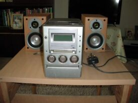 Sony cassette player and speakers