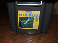 Portable drop file box