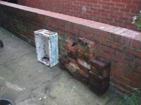 Old bricks/belfast sink