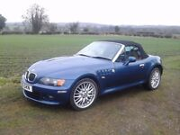 bmw z3 2.8 ltr cabriolet classic 1999 very low 69000 mls