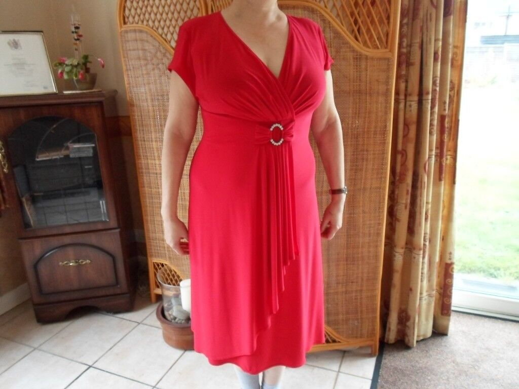 40411ad14f155 Roman Originals Size 14 Red Christmas Party Dress £10
