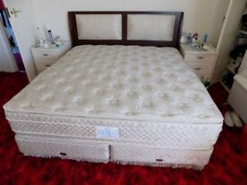 Super King Sealy divan and headboard