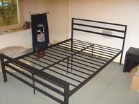Double Metal Bed (Black)