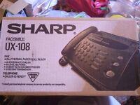 Fax Machine with Telephone – Sharp UX-108