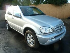 51 MERCEDES ML 500 270 cdi AUTO LPG CONVERTED 7 SEAT TOWBAR FULL MOT TINTED PARKING SENSORS LEATHER