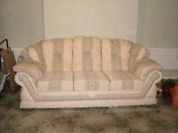 Cosy Quality Plump 4 Piece Sofa Suite 2 & 3 Seater Settee / Armchair and Pouffe Foot Stool £100