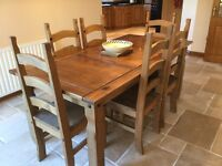 For Sale: Dining room table and chairs