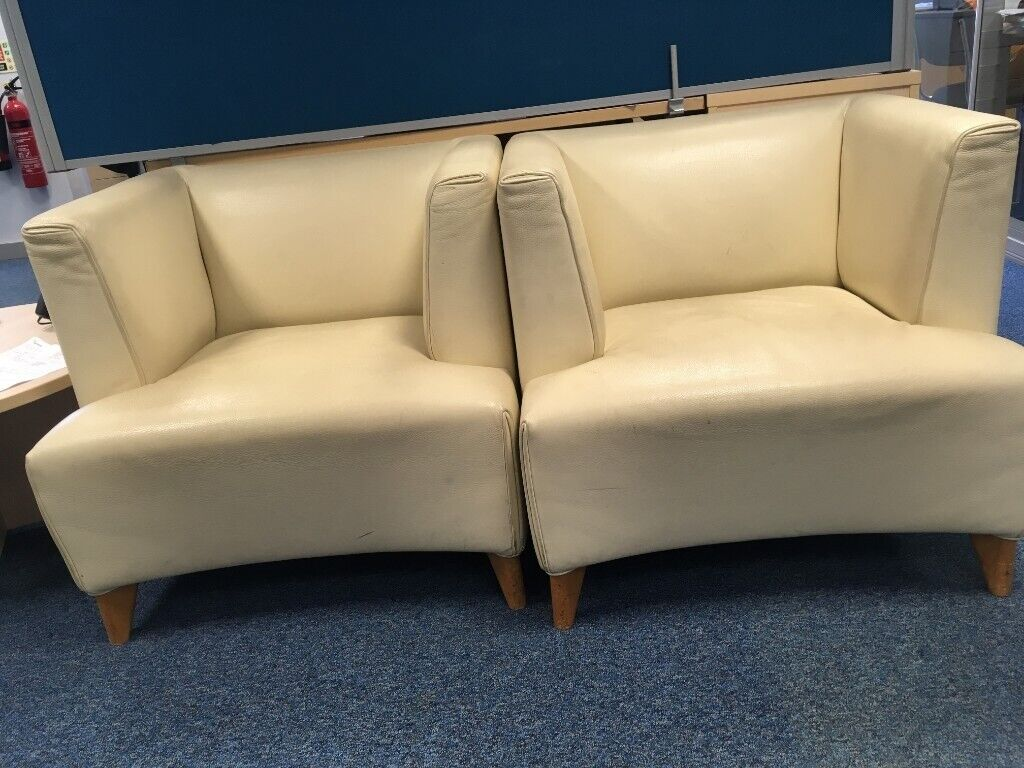 Surprising 2 X Office Reception Faux Leather Tub Chairs In Burgess Hill West Sussex Gumtree Machost Co Dining Chair Design Ideas Machostcouk