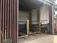 commercial workshop garage unit for rent mechanic or bodyshop