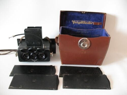 Rare Heidoscop Three-lens stereo camera w/Tessar lens 75mm f/4.5  No.54110