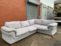 Grey fabric corner sofa delivery 🚚 sofa suite couch furniture