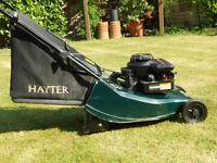 """Hayter Hawk Petrol lawnmower 41cm 16"""" cut."""