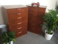 Retro bedside cabinet /chest of drawers