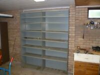 Industrial metal shelving unit