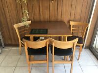 Retro table, chairs and stools