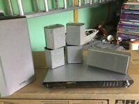 Sharp Aquos 42 inch HDTV,TOshiba Koi SD-63HK 5.1 Surround sound DVD player + Glass TV stand
