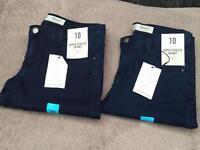 2 x size 10 women jeans