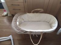 George Moses Basket and Rocking Stand for sale! Excellent condition