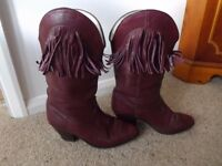 Ladies leather 3/4 length boots