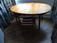 Danish style teak oval dining table & 6 chairs