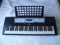 YAMAHA PSR E213 Electronic MIDI Keyboard & power adapter