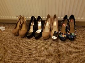Ladies size 6 heels