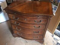 Reproduction Bow Fronted Chest of Drawers