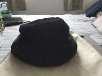 Black Fur (like) Hat