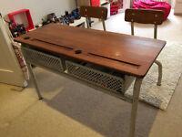 French retro school desk