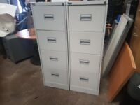 4 drawer metal filing cabinets 40 pounds each