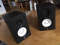 Yamaha HS7 Studio Monitors w/ stands, isolation pads & XLR cables