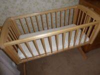 Mothercare Swinging Crib & Mattress