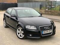 2009 (09) Audi A3 (8P) Sport 1.9 TDiE Black Manual, £30 Road Tax - Not VW BMW Ford Vauxhall
