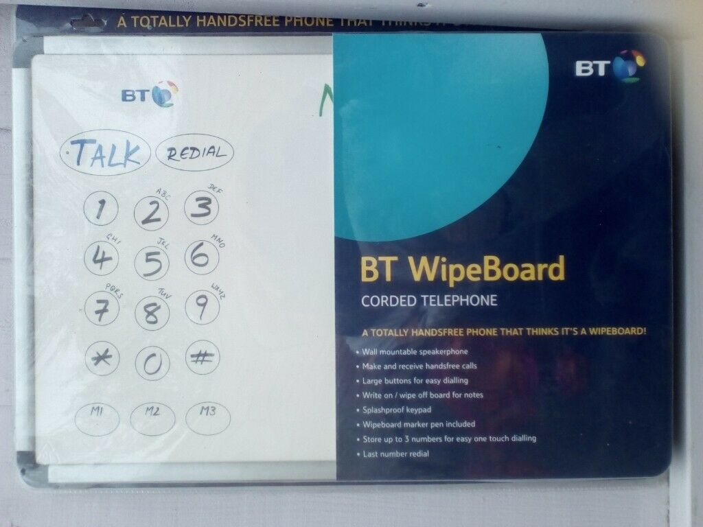 Brand new never been used BT WipeBoard corded telephone only £7 | in  Swindon, Wiltshire | Gumtree