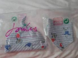 Brand New Joules baby hat and bib set
