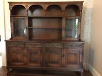 Solid Oak Old Charm Welsh Dresser