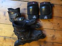 Roller Blades plus elbow pads - £25.00