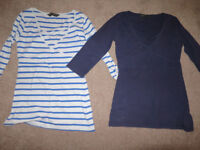2 x Blooming Marvellous Easy feed tops size small for mum