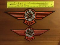 Pair of Harley Davidson Patches