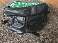 lin and leo leather changing bag