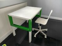 Ikea White DESK & chair (2 chairs included)
