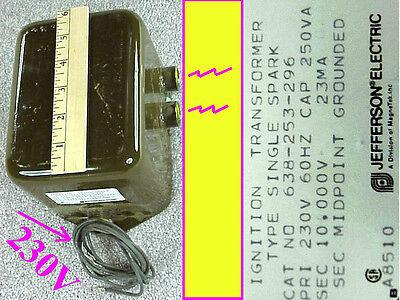 High Voltage Jefferson Ignition Transformer 10kv 23ma Nos 638-253-288 Hv 230w